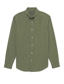 Standard Fit Heathered Oxford Shirt&Nbsp; by Banana Repbulic