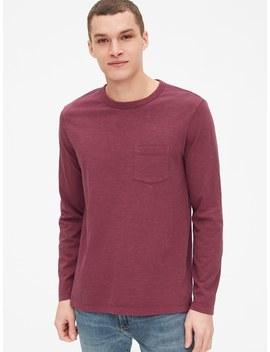 Vintage Slub Jersey Long Sleeve Pocket T Shirt by Gap