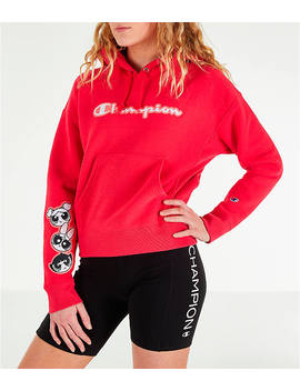 Women's Champion X The Powerpuff Girls Reverse Weave Pullover Hoodie by Champion