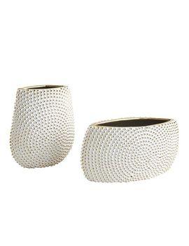 White Knob Textured Vase by Pier1 Imports