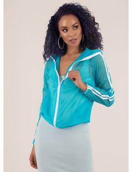 Sheer Determination Sporty Stripe Jacket by Go Jane