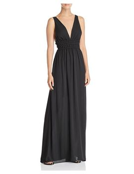 Surrey Plunging Cutout Gown by Wayf