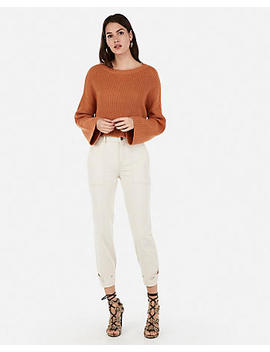 Boxy Bateau Neck Abbreviated Sweater by Express