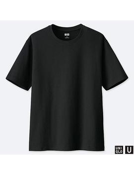 T Shirt Uniqlo U Coupe Relax À Col Rond Et Manches Courtes Femme by Uniqlo