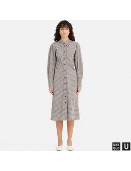 Women Uniqlo U Checked Shirt Dress by Uniqlo