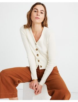 Shrunken Ribbed Cardigan Sweater by Madewell