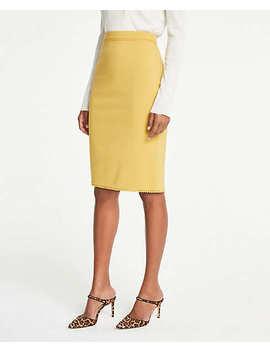 Petite Lace Trim Pencil Skirt by Ann Taylor