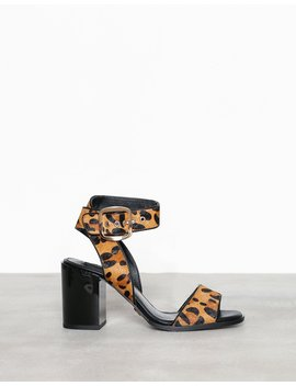 Two Part Block Heel Ankle Strap by River Island