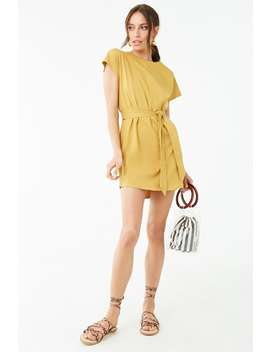 Belted T Shirt Dress by Forever 21
