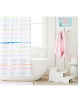 Rainbow Stripe Shower Curtain by Pottery Barn Kids