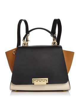 Eartha Iconic Color Block Convertible Leather Backpack by Zac Zac Posen