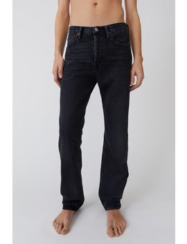 Classic Fit Jeans Used Black by Acne Studios