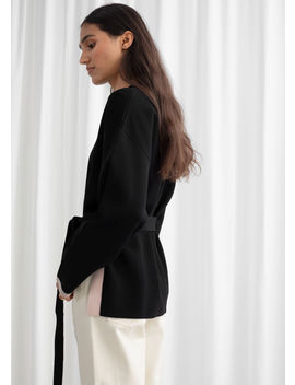 Cotton Blend Belted Sweater by & Other Stories