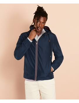 Water Repellent Hooded Windbreaker by Brooks Brothers