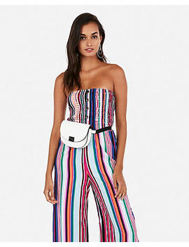 Smocked Wide Leg Jumpsuit by Express