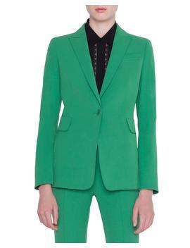 Gabardine One Button Blazer by Akris Punto