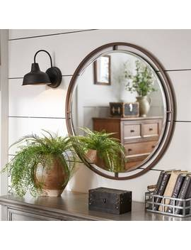 Crossly Bronze Finish Floating Round Wall Mirror By I Nspire Q Artisan by I Nspire Q