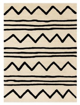 Kid's Zigzag Hand Tufted Wool Area Rug by Safavieh