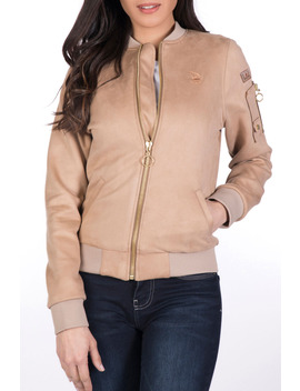 May Nubuck Jacket In Beige by General