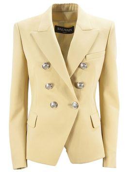 Balmain Beige Wool Blazer by Balmain