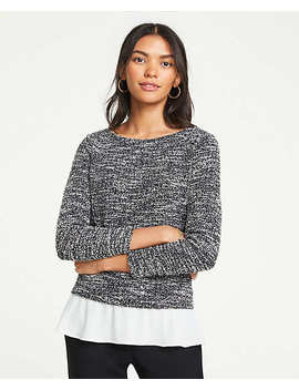 Tweed Ponte Two In One Top by Ann Taylor