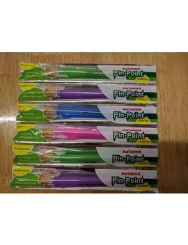 Matador Pin Point Oil Gel  Pens 6pk by Ebay Seller