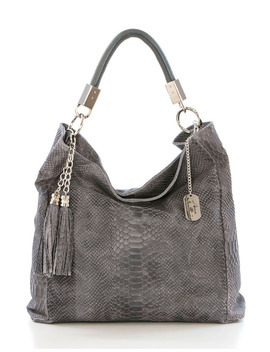Naples Leather Handbag In Gray by General