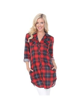 Women's White Mark Plaid Tunic by Kohl's