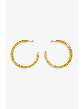 Glittery Hoop Earrings by Monki