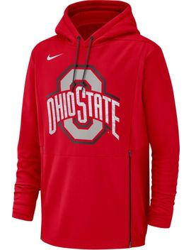 Nike Men's Ohio State Buckeyes Scarlet Therma Fit Pullover Hoodie by Nike