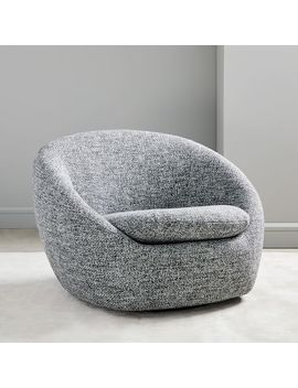 Cozy Swivel Chair by West Elm