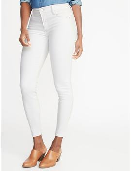 Mid Rise Clean Slate Built In Sculpt Rockstar Super Skinny Ankle Jeans For Women by Old Navy
