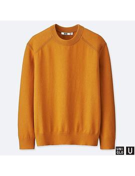 Men Uniqlo U Cotton Cashmere Blend Crew Neck Jumper by Uniqlo