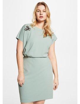 Appliqué Draped Dress by Mango