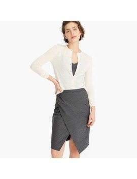 Asymmetrical Pencil Skirt In Everyday Wool by J.Crew
