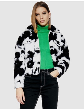 Cow Shearling Crop Jacket by Topshop