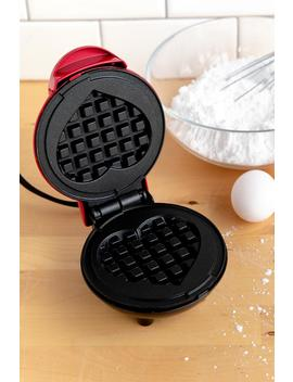 Dash Mini Heart Waffle Maker Red by Francesca's