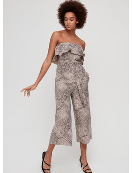 Altamiro Jumpsuit   Ruffled, Belted, Strapless Jumpsuit by Babaton
