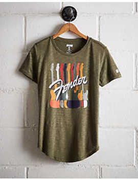 Tailgate Women's Fender Guitars T Shirt by American Eagle Outfitters