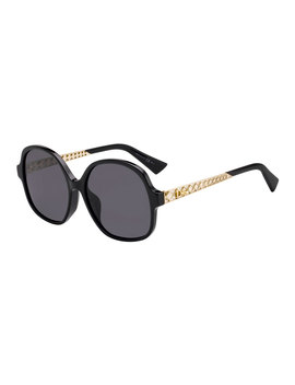 Diorama Cannage Temple Sunglasses Sunglasses by Dior