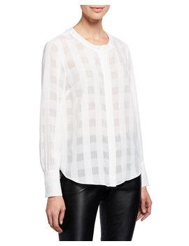 Remi Long Sleeve Check Blouse by Rachel Rachel Roy