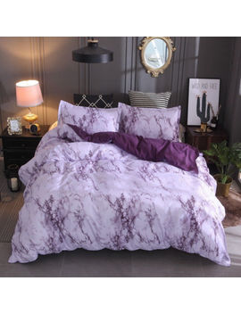 Marble Effect Quilt Cover Bedding Set Duvet Cover Set Single Double King Size by Ebay Seller