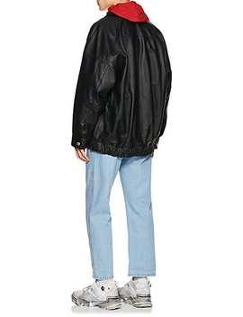 B 2 Leather Oversized Bomber Jacket by Martine Rose