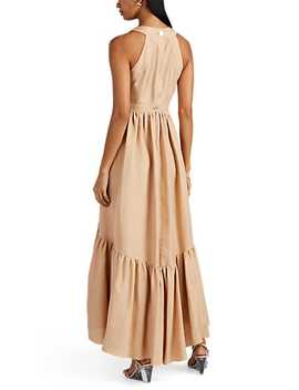 Natalie Silk Linen Maxi Dress by Laura Garcia Collection