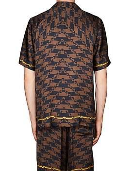 Geometric Print Sateen Bowling Shirt by Dries Van Noten