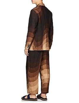 Wave Print Wool Blend Double Breasted Sportcoat by Dries Van Noten