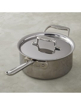 All Clad D5 Stainless Steel Saucepan, 3 Qt by Williams   Sonoma