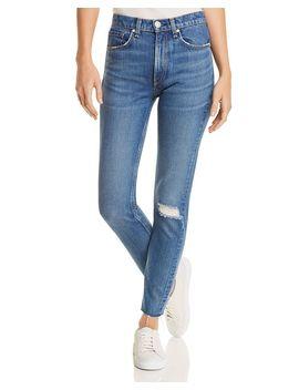 High Rise Distressed Skinny Jeans In Pamela by Rag & Bone/Jean