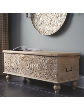Signature Design By Ashley Fossil Ridge 43 In. Backless Wood Storage Bench by Signature Design By Ashley