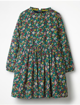 Printed Frill Neck Dress by Boden